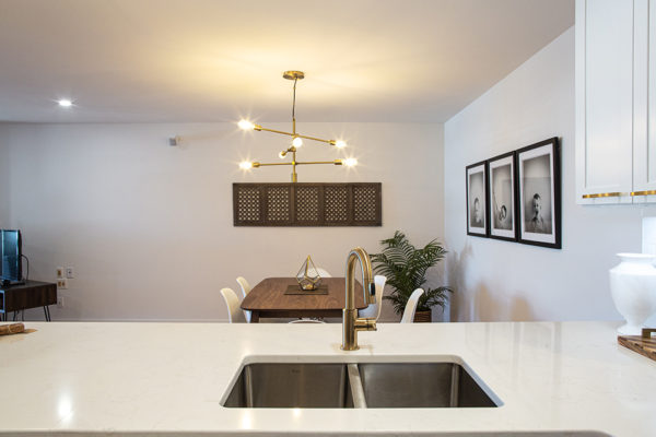 this real estate photography shot shows an amazing condo kitchen